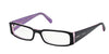 Prada PR10FV Rectangle Eyeglasses  3AX1O1-BLACK/PINK 53-16-135 - Color Map black