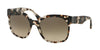 Prada CATWALK PR10RSF Irregular Sunglasses  UAO3D0-SPOTTED OPAL BROWN 57-19-140 - Color Map brown