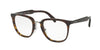Prada PR10TV Square Eyeglasses  2AU1O1-HAVANA 51-21-145 - Color Map havana