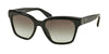 Prada PR11SSF Square Sunglasses  1AB0A7-BLACK 56-18-145 - Color Map black