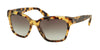 Prada PR11SSF Square Sunglasses  7S00A7-MEDIUM HAVANA 56-18-145 - Color Map havana