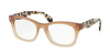 Prada PR11SV Rectangle Eyeglasses  UBI1O1-BROWN GRADIENT 51-19-140 - Color Map brown