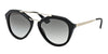 Prada CATWALK PR12QSA Pilot Sunglasses  1AB0A7-BLACK 54-18-135 - Color Map black