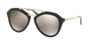 Prada CATWALK PR12QSA Pilot Sunglasses  1AB1C0-BLACK 54-18-135 - Color Map black