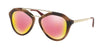 Prada PR12QSA Pilot Sunglasses  USG5L2-STRIPED BROWN 54-18-135 - Color Map brown