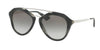 Prada CATWALK PR12QSA Pilot Sunglasses  USI0A7-STRIPED GREY 54-18-135 - Color Map grey