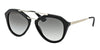Prada CINEMA PR12QS Pilot Sunglasses  1AB0A7-BLACK 54-18-135 - Color Map black