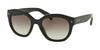 Prada PR12SS Irregular Sunglasses  1AB0A7-BLACK 53-20-140 - Color Map black