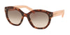 Prada PR12SS Irregular Sunglasses  UE04K0-SPOTTED BROWN PINK 53-20-140 - Color Map pink