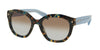 Prada PR12SS Irregular Sunglasses  UE14S2-SPOTTED BROWN BLUE 53-20-140 - Color Map blue
