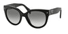 Prada SWING PR17OS Phantos Sunglasses  1AB0A7-BLACK 54-22-140 - Color Map black