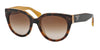 Prada SWING PR17OS Phantos Sunglasses  FAL1Z1-TOP LIGHT HAVANA/OPAL YELLOW 54-22-140 - Color Map havana