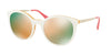 Prada CATWALK PR17SSF Phantos Sunglasses  VH72D2-IVORY/YELLOW 55-21-140 - Color Map white