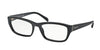Prada HERITAGE PR18OVA Rectangle Eyeglasses  1AB1O1-GLOSS BLACK 54-18-135 - Color Map black