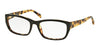 Prada HERITAGE PR18OVA Rectangle Eyeglasses  NAI1O1-TOP BLACK/MEDIUM HAVANA 54-18-135 - Color Map black