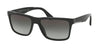 Prada CONCEPTUAL PR19SS Square Sunglasses  1AB0A7-BLACK 59-17-145 - Color Map black