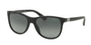 Prada PR20SS Square Sunglasses  1BO2D0-MATTE BLACK 56-18-140 - Color Map black