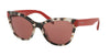 Prada PR21SSF Phantos Sunglasses  UAO0A0-SPOTTED BROWN OPAL 56-19-140 - Color Map brown