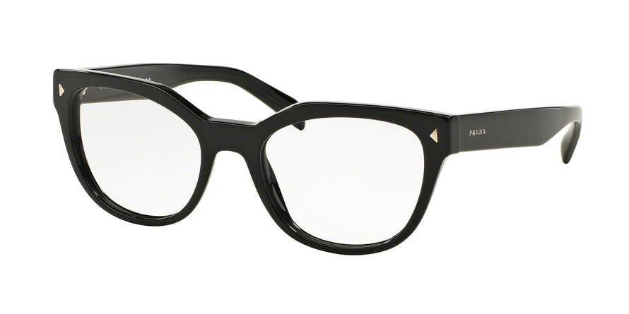 Prada PR21SV Square Eyeglasses  1AB1O1-BLACK 51-19-140 - Color Map black