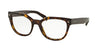 Prada PR21SV Square Eyeglasses  2AU1O1-HAVANA 53-19-140 - Color Map havana