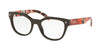 Prada PR21SV Square Eyeglasses  DHO1O1-BROWN 53-19-140 - Color Map brown
