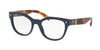 Prada PR21SV Square Eyeglasses  TFM1O1-BLUE 51-19-140 - Color Map blue