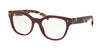 Prada PR21SV Square Eyeglasses  USH1O1-BORDEAUX 53-19-140 - Color Map bordeaux