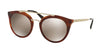 Prada CATWALK PR23SSF Phantos Sunglasses  USE1C0-STRIPED BROWN 52-22-140 - Color Map brown