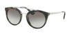 Prada CATWALK PR23SS Phantos Sunglasses  USI0A7-STRIPED GREY 52-22-140 - Color Map grey