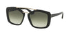 Prada PR24RSF Square Sunglasses  1AB0A7-BLACK 56-17-140 - Color Map black