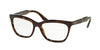 Prada JOURNAL PR24SV Cat Eye Eyeglasses  2AU1O1-HAVANA 53-16-140 - Color Map havana