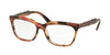 Prada PR24SV Cat Eye Eyeglasses  UEO1O1-STRIPED BROWN 55-16-140 - Color Map brown