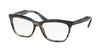 Prada JOURNAL PR24SV Cat Eye Eyeglasses  UEQ1O1-STRIPED VIOLET 55-16-140 - Color Map blue