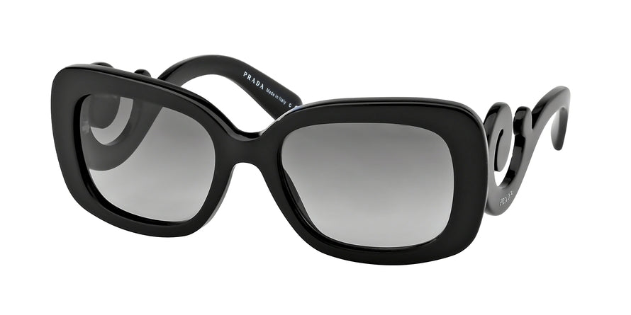 Prada PR27OS Rectangle Sunglasses  1AB3M1-BLACK 54-19-135 - Color Map black