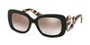 Prada MINIMAL BAROQUE PR27OS Rectangle Sunglasses  UAO4O0-BROWN 54-19-135 - Color Map brown