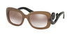 Prada PR27OS Rectangle Sunglasses  UBU4O0-DARK BROWN MAT TRASP 54-19-135 - Color Map brown