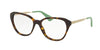 Prada CINEMA PR28SV Square Eyeglasses  2AU1O1-HAVANA 54-16-140 - Color Map havana