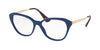 Prada CINEMA PR28SV Square Eyeglasses  BIL1O1-BLUE 54-16-140 - Color Map blue
