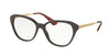 Prada CINEMA PR28SV Square Eyeglasses  DHO1O1-BROWN 54-16-140 - Color Map brown