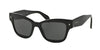 Prada PR29RS Butterfly Sunglasses  1AB1A1-BLACK 51-18-140 - Color Map black