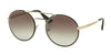 Prada CATWALK PR51SS Round Sunglasses  1AB0A7-BLACK/PALE GOLD 54-22-135 - Color Map black