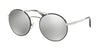 Prada CATWALK PR51SS Round Sunglasses  1AB2B0-SILVER/BLACK 54-22-135 - Color Map black