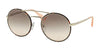Prada CATWALK PR51SS Round Sunglasses  2AU4K0-SILVER/DARK HAVANA 54-22-135 - Color Map havana