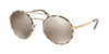 Prada CATWALK PR51SS Round Sunglasses  UAO1C0-PALE GOLD/TORTOISE 54-22-135 - Color Map white