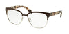 Prada PR54SV Square Eyeglasses  DHO1O1-BROWN/SILVER 52-16-140 - Color Map brown