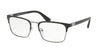 Prada HERITAGE PR54TV Rectangle Eyeglasses  1BO1O1-MATTE BLACK 57-19-150 - Color Map black