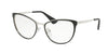 Prada CINEMA PR55TV Phantos Eyeglasses  1AB1O1-BLACK/SILVER 54-18-140 - Color Map black