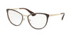 Prada CINEMA PR55TV Phantos Eyeglasses  DHO1O1-BROWN/PALE GOLD 54-18-140 - Color Map brown