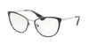 Prada CINEMA PR55TV Phantos Eyeglasses  U6R1O1-BLUE/SILVER 54-18-140 - Color Map blue