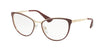 Prada CINEMA PR55TV Phantos Eyeglasses  UF61O1-BORDEAUX/PALE GOLD 52-18-140 - Color Map bordeaux